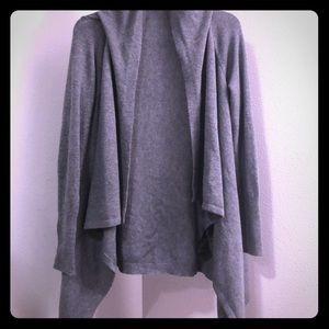 H&M Open Cardigan Gray Medium